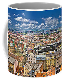 Zagreb Lower Town Colorful Panoramic View Coffee Mug