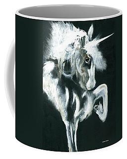 Coffee Mug featuring the painting Unicorn by Barbie Batson