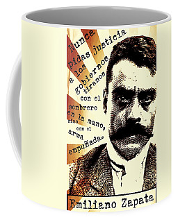 Coffee Mug featuring the mixed media Zapatismo by Michelle Dallocchio