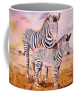 Zebra And Foal Coffee Mug