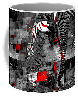Zebra Art - 56a Coffee Mug by Variance Collections