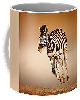 Zebra Calf Running Coffee Mug