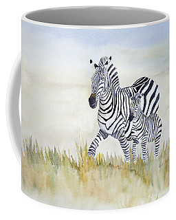 Zebra Family Coffee Mug