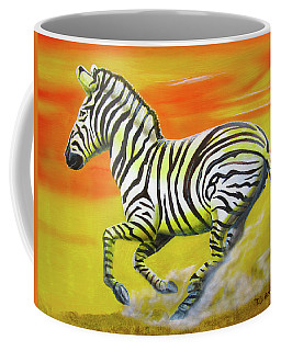 Zebra Kicking Up Dust Coffee Mug