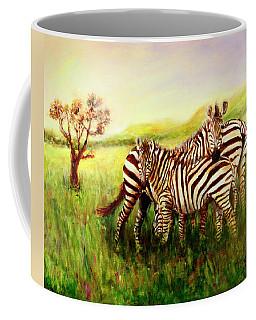 Zebras At Ngorongoro Crater Coffee Mug