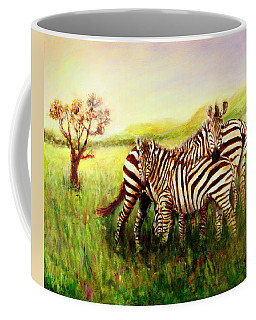 Zebras At Ngorongoro Crater Coffee Mug