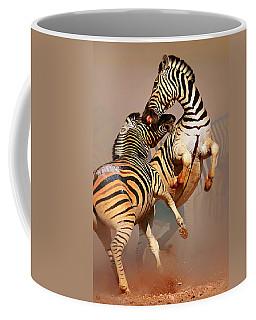 Zebras Fighting Coffee Mug