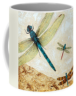 Zen Flight - Dragonfly Art By Sharon Cummings Coffee Mug