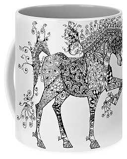 Zentangle Circus Horse Coffee Mug