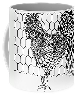 Zentangle Rooster Coffee Mug