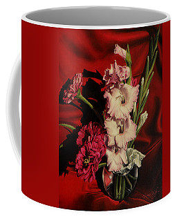 Zinnias And Gladiolas Coffee Mug