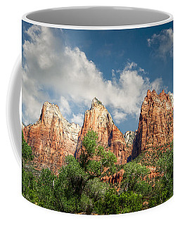 Coffee Mug featuring the photograph Zion Court Of The Patriarchs by Tammy Wetzel