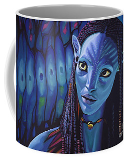 Zoe Saldana As Neytiri In Avatar Coffee Mug