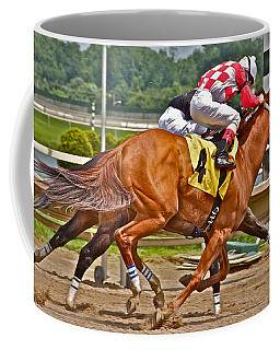 Coffee Mug featuring the photograph  Betting On Number Four by Alice Gipson