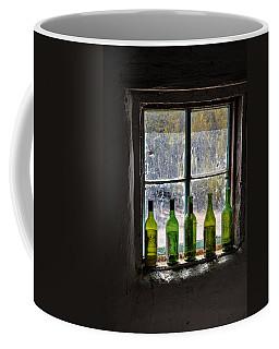 Green Bottles In Window Coffee Mug