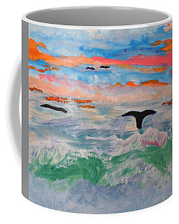 Misty Sea At Sunset Coffee Mug by Meryl Goudey