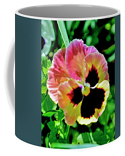 Pink And Yellow Pansy Coffee Mug