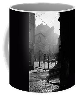 A Square In Old Brussels Coffee Mug by Peter Mooyman