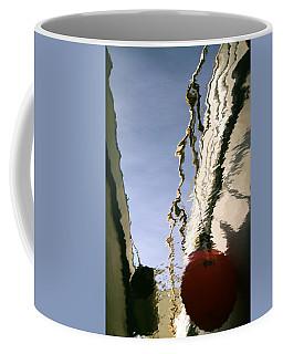 Boat Reflections At Sea Coffee Mug