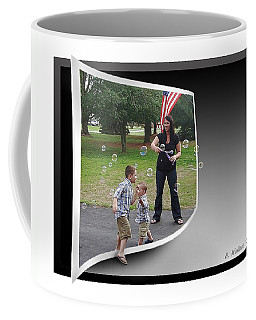Coffee Mug featuring the photograph Chasing Bubbles by Brian Wallace