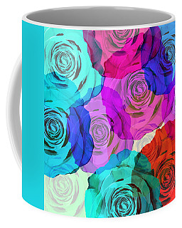 Colorful Roses Design Coffee Mug