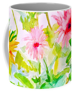 Coffee Mug featuring the painting Daisy Daisy by Beth Saffer
