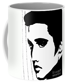 Elvis In Black And White Coffee Mug