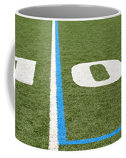 Coffee Mug featuring the photograph Football Field Ten by Henrik Lehnerer