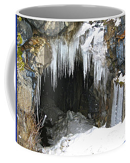 Coffee Mug featuring the photograph Icicle Falling by Phyllis Kaltenbach