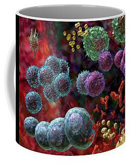 Immune Response Antibody 4 Coffee Mug by Russell Kightley