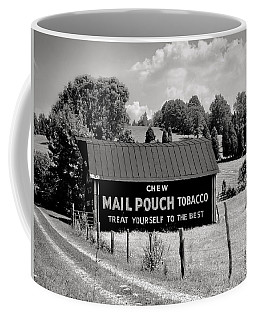 Coffee Mug featuring the photograph Mail Pouch Barn by Mary Almond