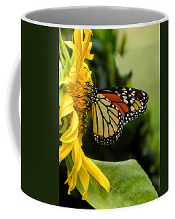 Monarch And The Sunflower Coffee Mug