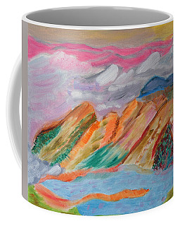 Mountains In The Clouds Coffee Mug by Meryl Goudey
