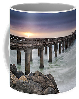 Pier At Sunset Coffee Mug