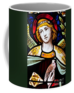 Coffee Mug featuring the photograph Stained Glass Angel by Verena Matthew