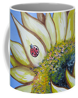 Sunflower And Ladybug Coffee Mug