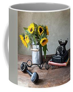 Sunflowers And Phone Coffee Mug