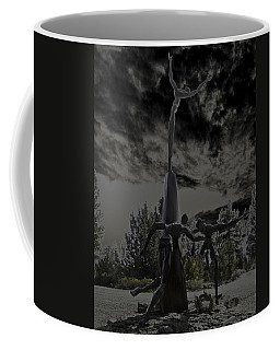Coffee Mug featuring the photograph The Why Group  by Larry Depee