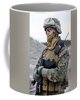 U.s. Marine Provides Security Coffee Mug