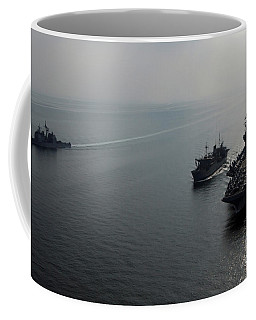 Usns Saturn Conducts A Vertical Coffee Mug