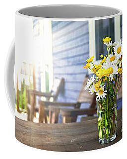 Wildflowers Bouquet At Cottage Coffee Mug
