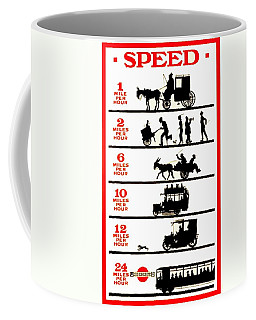 Coffee Mug featuring the photograph 1915 London Subway Ad Poster by Paul Van Scott
