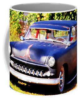 Coffee Mug featuring the photograph 1950 Ford  Vintage by Peggy Franz