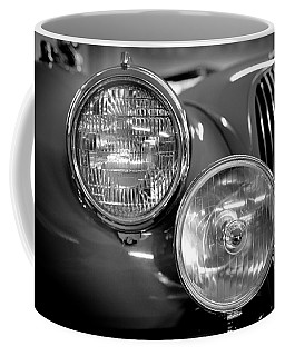 Coffee Mug featuring the photograph 1952 Jaguar Headlights by Sebastian Musial