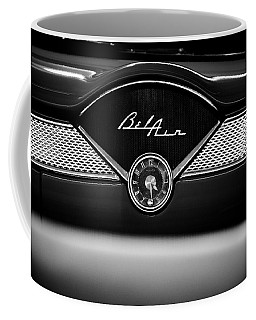 1955 Chevy Bel Air Glow Compartment In Black And White Coffee Mug
