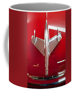 Coffee Mug featuring the photograph 1955 Chevy Belair Hood Ornament by Sebastian Musial
