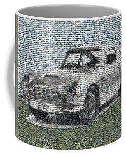 Coffee Mug featuring the digital art 1964 Aston Martin Mosaic by Paul Van Scott