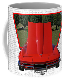 1965 Corvette Coffee Mug by EricaMaxine  Price
