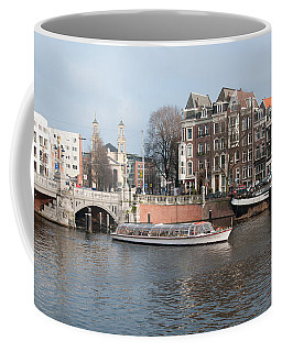 Coffee Mug featuring the digital art City Scenes From Amsterdam by Carol Ailles