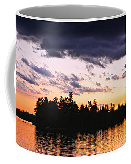 Coffee Mug featuring the photograph Dramatic Sunset At Lake by Elena Elisseeva